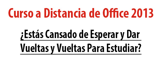 Cursos a Distancia de Office 2010 - 2013